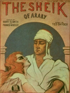 "Sheet music cover for the ""Sheik of Araby"""