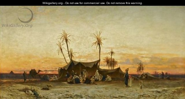 An Arab Encampment at Sunset, by Hermann David Solomon Corrodi, courtesy of Wikigallery.org