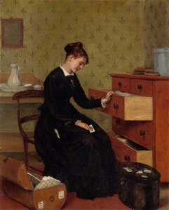 The New Governess, by Thomas Ballard, c. 1877. Private collection.
