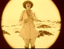 Diana Mayo alone in the desert, from the film The Sheik (1921)