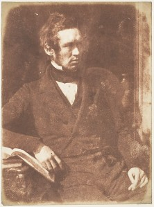 Rev. Stephen Hislop, Missionary to India, photographed by Robert Adamson, c. 1843-47. From the collection of David Octavius Hill (1802-1870)and Robert Adamson (1828-1848) in the Metropolitan Museum of Art
