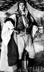 Rudolph Valentino as The Sheik. Life Magazine.
