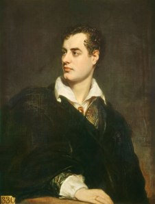 George Gordon, Lord Byron (1788 - 1824). Portrait by Thomas Phillips, 1824. Courtesy of Wikimedia Commons.