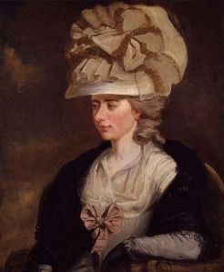 "Frances (Fanny) Burney. Portrait by her brother, Edward Francis Burney, c. 1784-1785. Located in the National Portrait Gallery, London. Courtesy of Wikimedia Commons. Burney was a ""bluestocking,"" a term coined in the 18thC to refer to an intellectual or educated woman. Montagu organized the Blue Stockings Society in the 1750s in an effort to cultivate intellectual discussion among women."